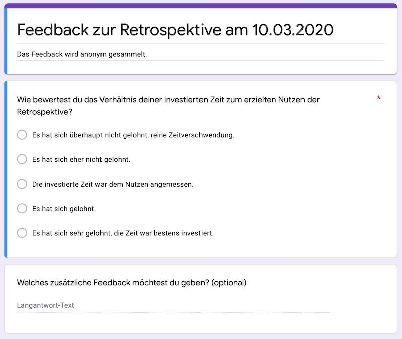 Remote Scrum: Feedback zu einer Remote Retrospektive